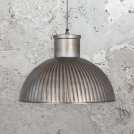 Industrial Antique Silver Pendant Light