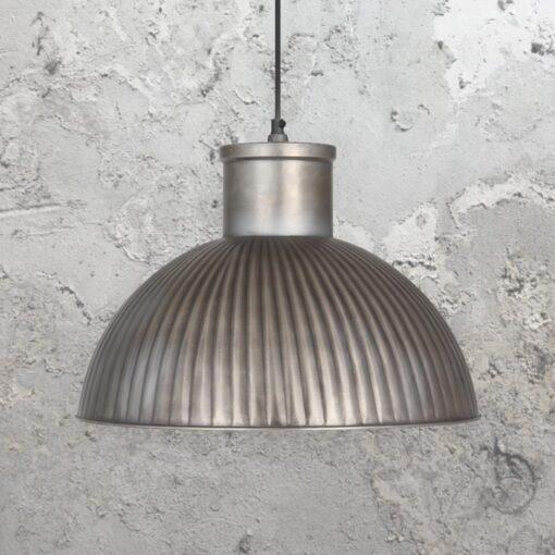 Industrial Antique Silver Pendant Light