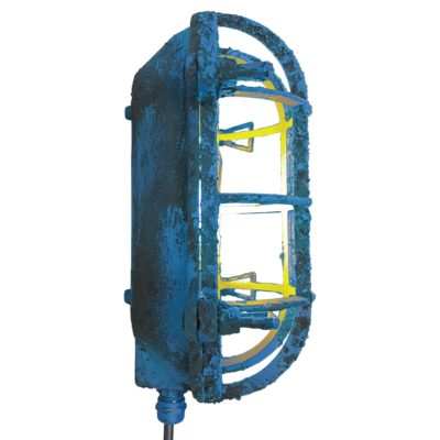 Industrial Blue Oval Bulkhead