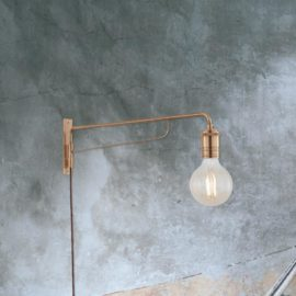 Industrial Brass Swing Arm Wall Light