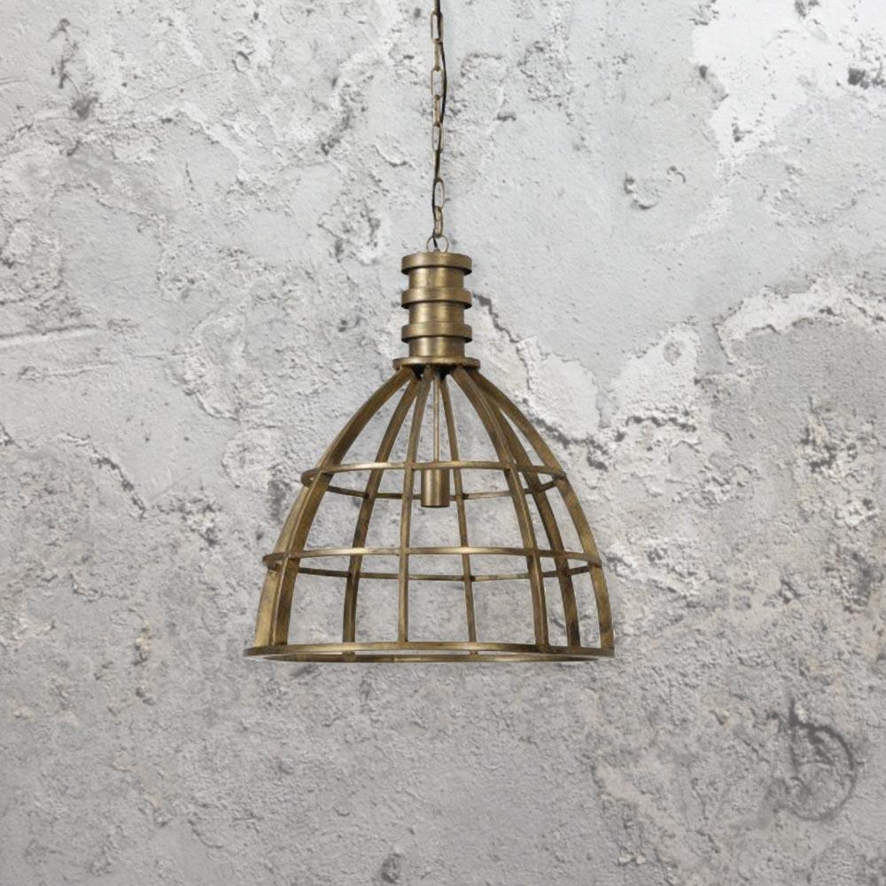 industrial bronze cage pendant light e2 contract lighting uk