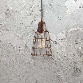 Industrial Bronze Pendant Light