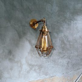 Industrial Caged Wall Light