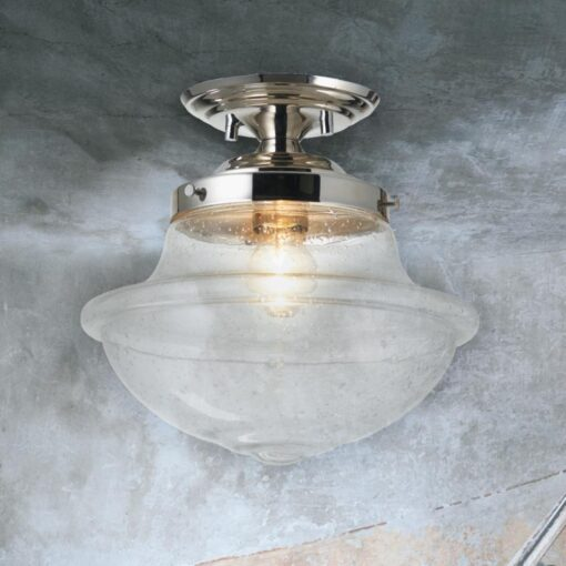 Industrial Clear Glass Flush Light