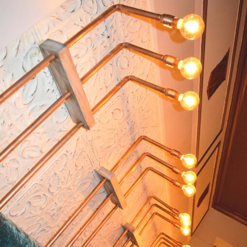 Industrial Copper Pipe Wall Light