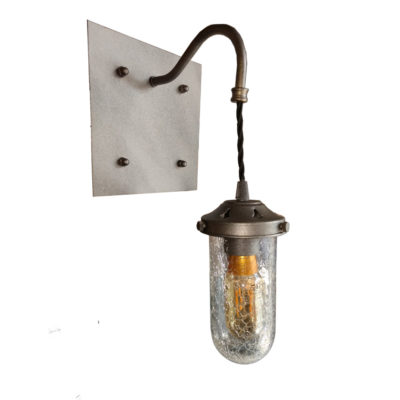 Industrial Crackled Glass Wall Light,Crackled Glass Wall Lights