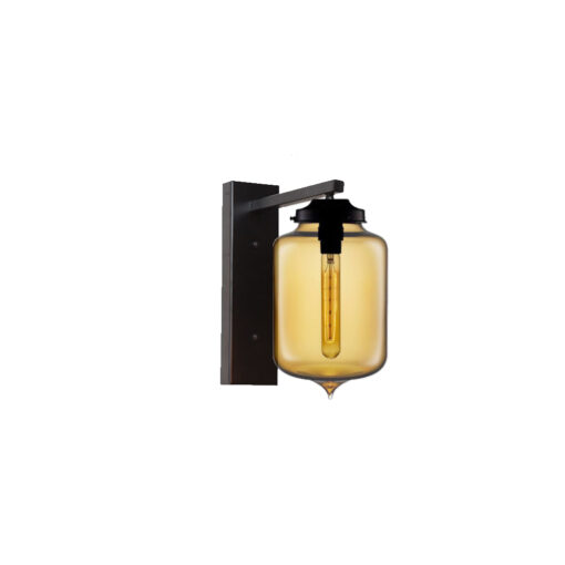 Amber Glass Wall Light,Industrial Cylinder Glass Wall Light