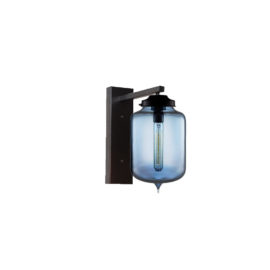 Blue Glass Wall Light,Industrial Cylinder Glass Wall Light