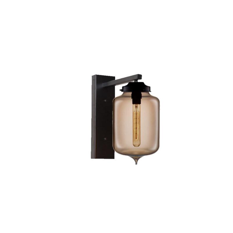 Brown Glass Wall Light,Industrial Cylinder Glass Wall Light