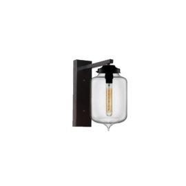 Clear Glass Wall Light,Industrial Cylinder Glass Wall Light