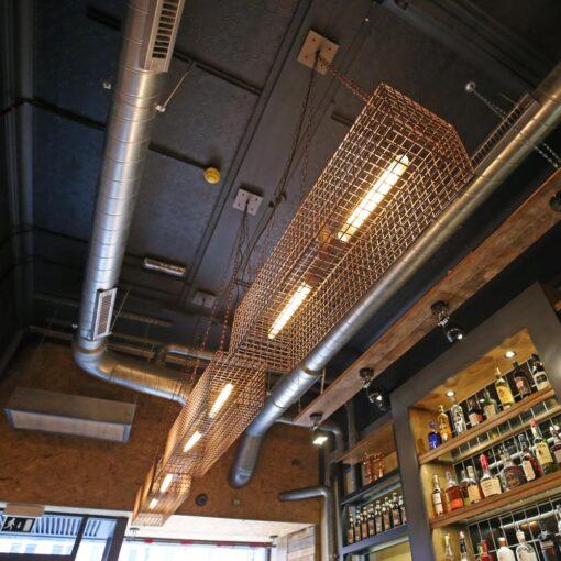 Industrial Double Pendant Light