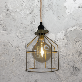 Industrial Funnel Cage Pendant Light