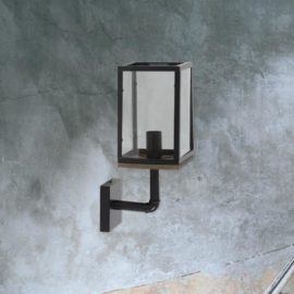 Industrial Glass Box Wall Light