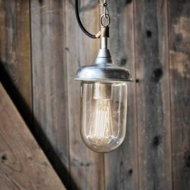 Industrial Glass Outdoor Pendant Light