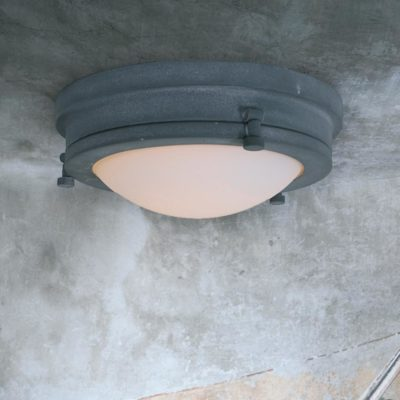 Industrial Grey Ceiling Flush Ceiling Light