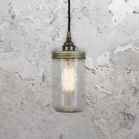 Industrial Jam Jar Pendant Light