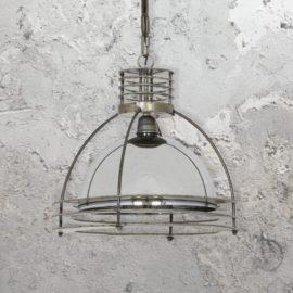 Industrial Mirrored Glass Pendant Light