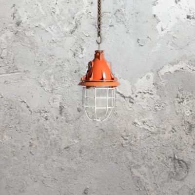Industrial Orange Pendant