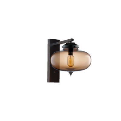 Brown Glass Wall Light,Industrial Round Glass Wall Light