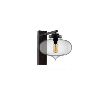 Clear Glass Wall Light,Industrial Round Glass Wall Light