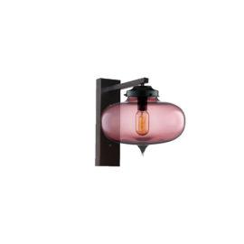 Purple Glass Wall Light,Industrial Round Glass Wall Light