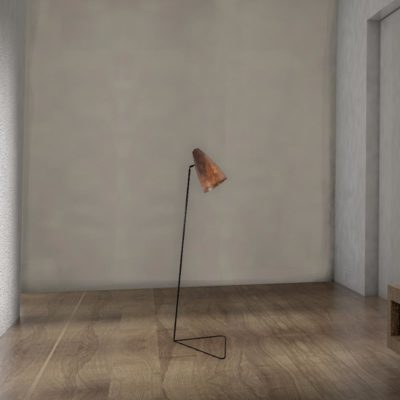 Industrial Rust Floor Lamp
