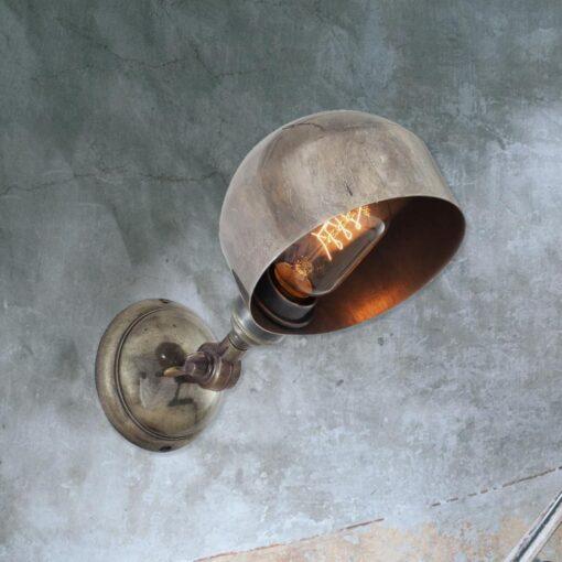 Industrial Silver Adjustable Wall Light