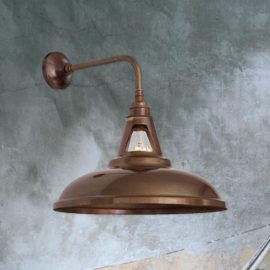 Industrial Spun Metal Wall Light