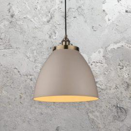 Industrial Taupe Pendant Light