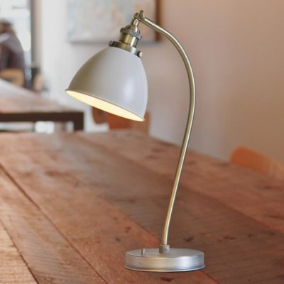 Industrial Taupe Table Lamp
