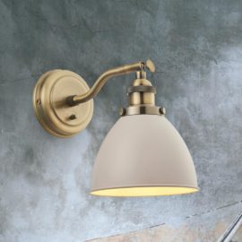 Industrial Taupe Wall Light