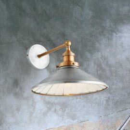 Antique Zinc Wall Light,Industrial Zinc Wall Light,Solid Brass Wall Light