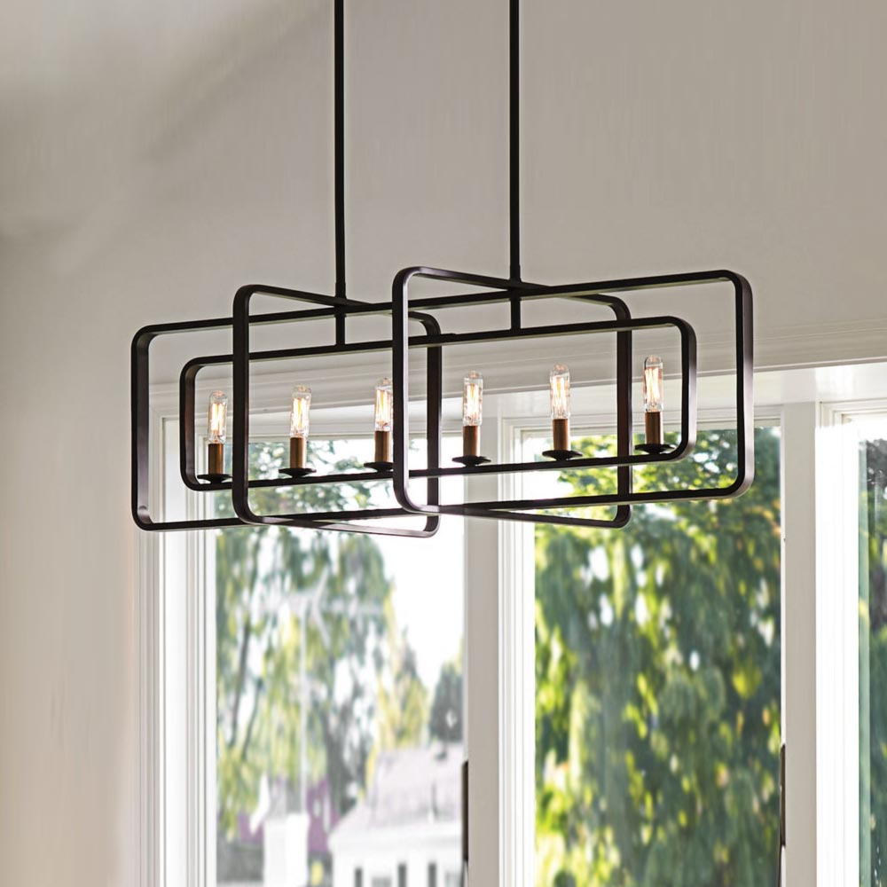 E2 Contract Lighting | Products | Island Chandelier Bronze CL-33220 | UK