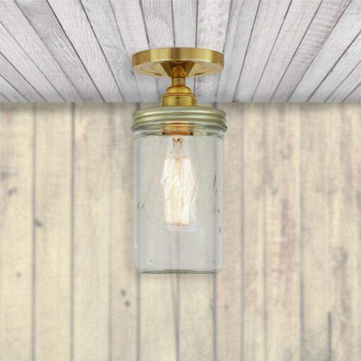 Jam Jar Flush Ceiling Light