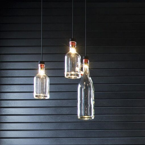 LED Bottle Pendant Light Kit