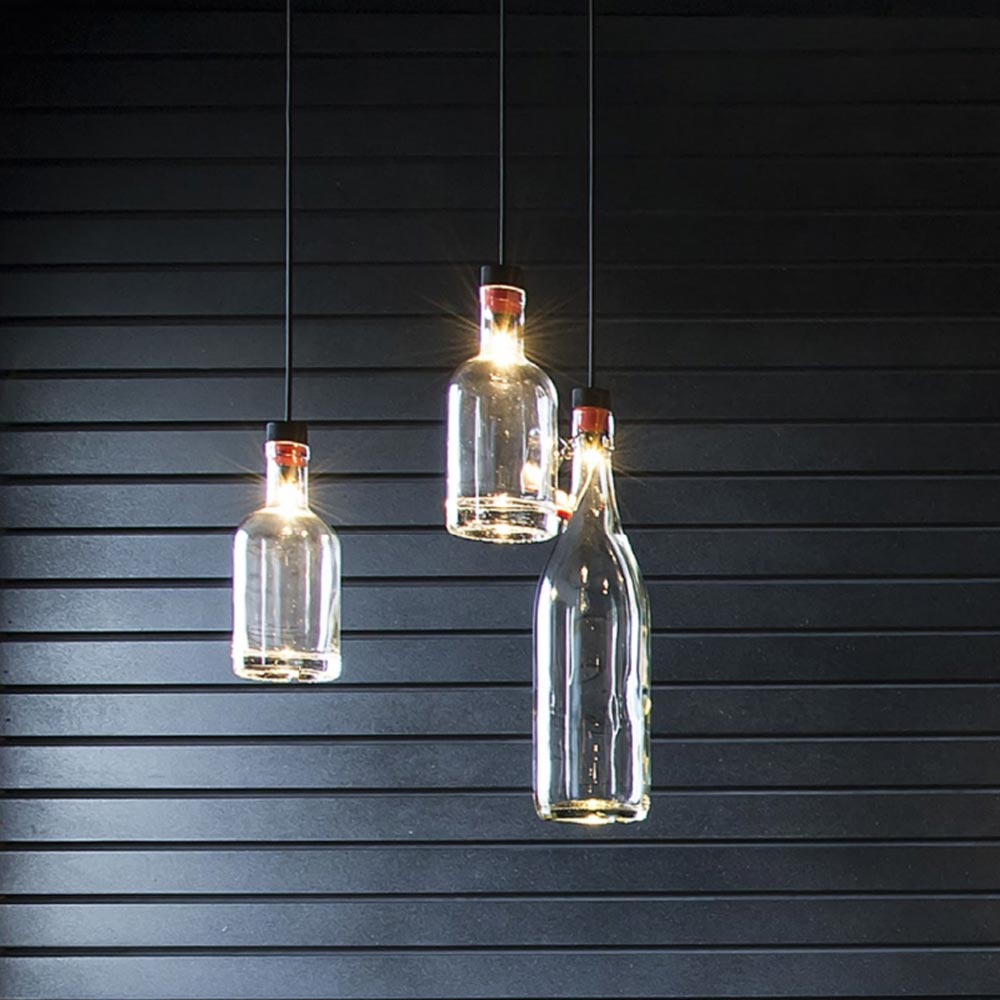 Hanging Bottle Lamp Kit: DIY LED Bottle Pendant Light Kit CL-34459