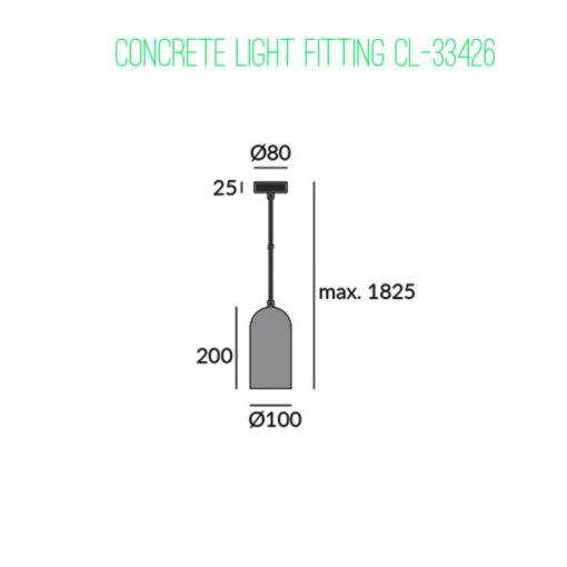 ContemporaryConcrete Light Fitting