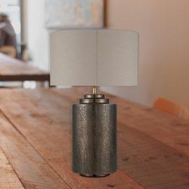 Large Antique Brass Pot Table Lamp