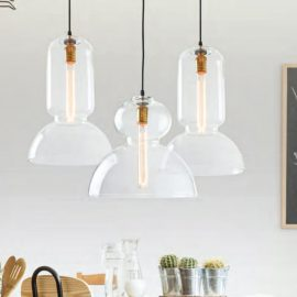 Large Clear Glass Pendant Light