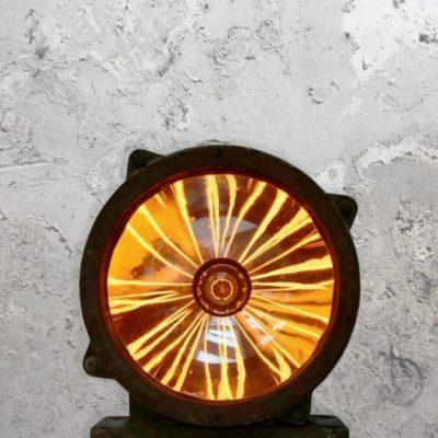 Large Reclaimed Tank Floor Lamp