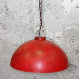 Large Red Rustic Pendant Light