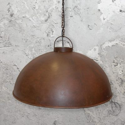 Large Rusty Pendant Light
