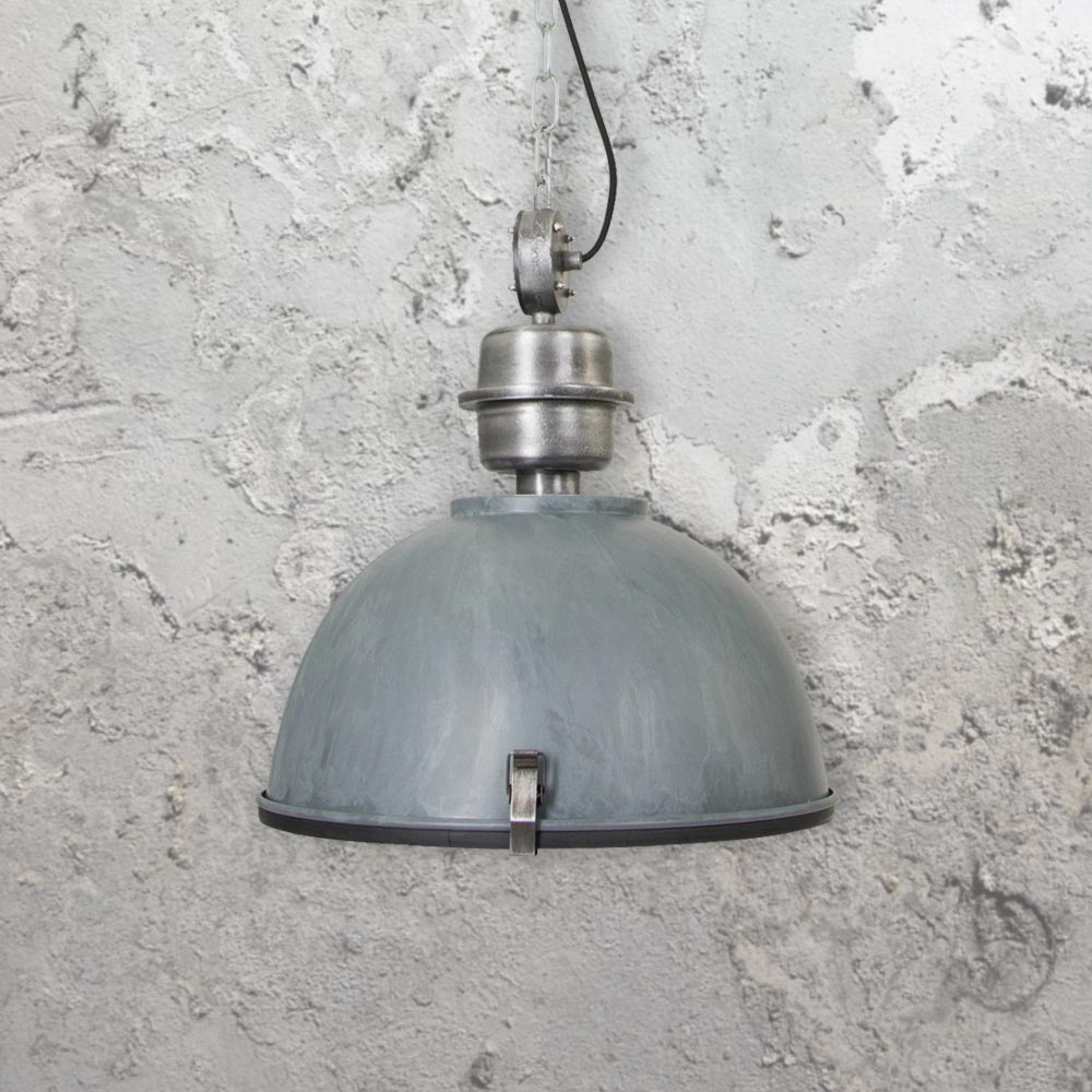 Old Industrial Pendant Light: Large Vintage Industrial Pendant Light 35185