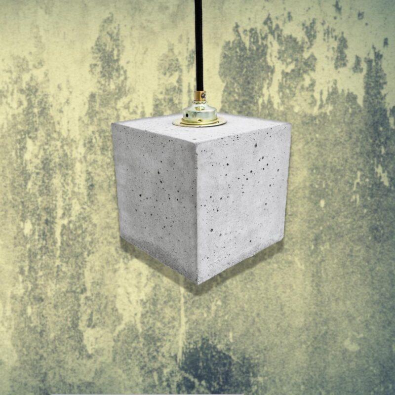 Light Concrete Cube Pendant Light CL-32425