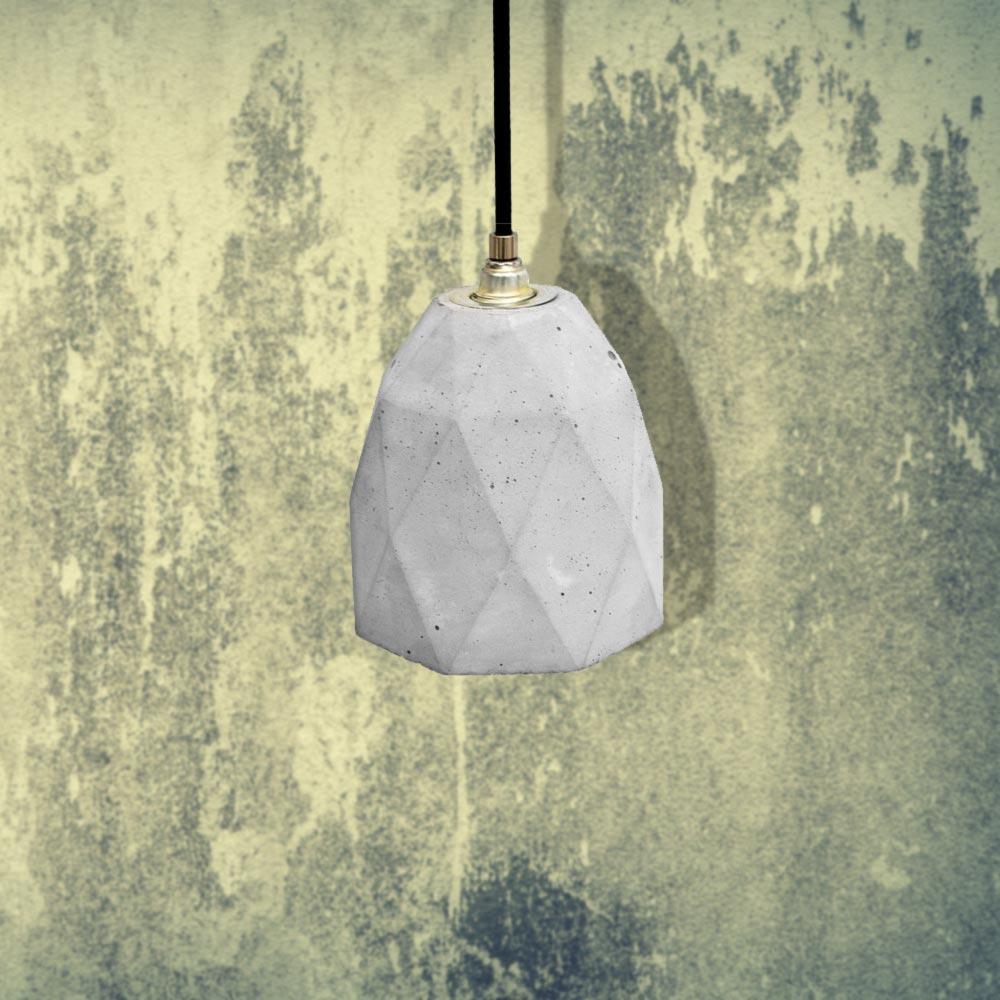 Light Concrete Polygon Pendant CL-32429