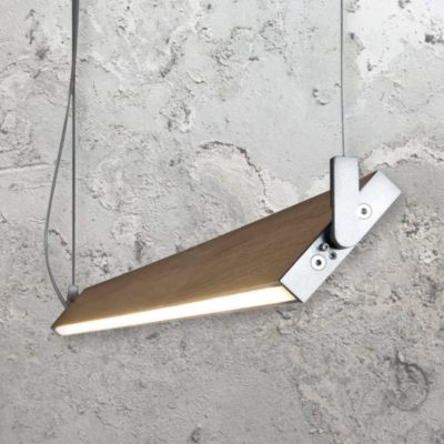 Linear Wood LED Pendant