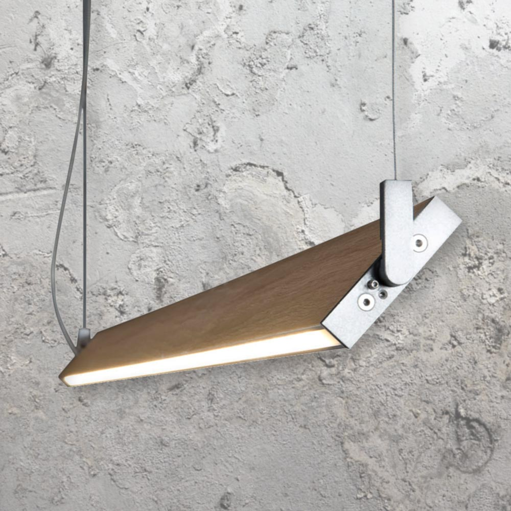 Linear Wood Led Pendant Clb 00347 E2 Contract Lighting