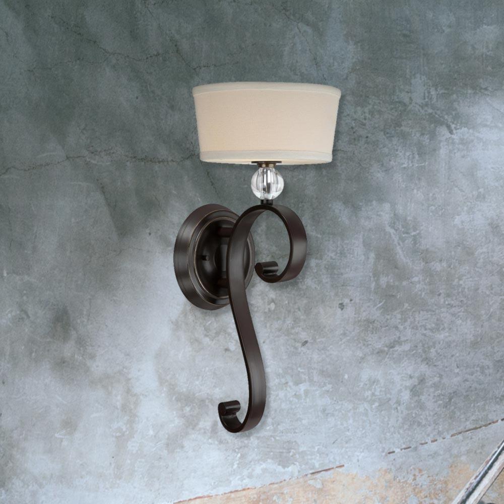 Linen Shade Wall Light