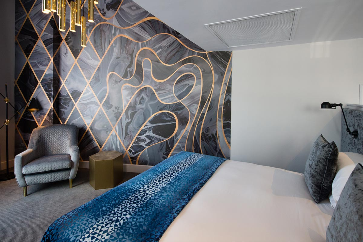 Malmaison Suites, Manchester Room 507 Lighting