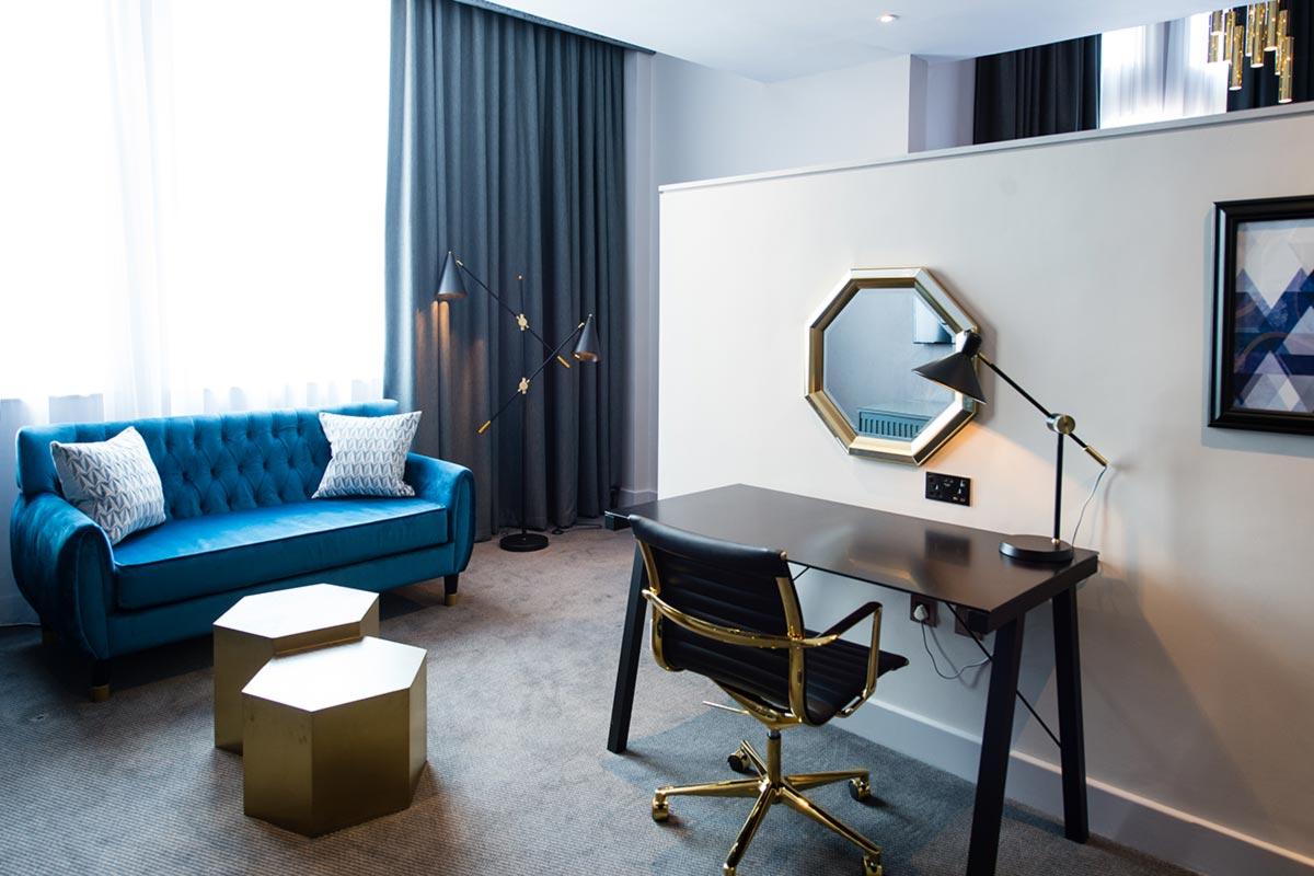 Malmaison Suites, Manchester Room 507 Tube Pendants